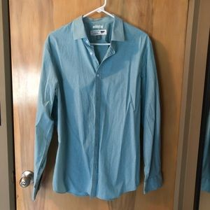 Old Navy Slim Fit Long Sleeve Button Shirt Sz L